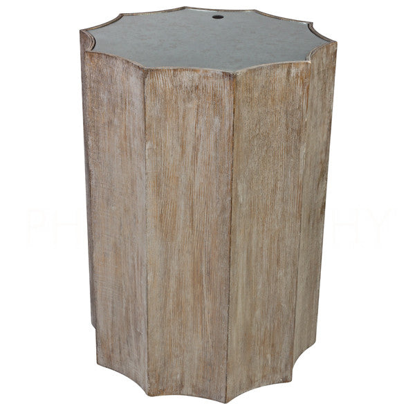 Aidan Gray Emmeline Burnt Oak Side Table F118 OAK