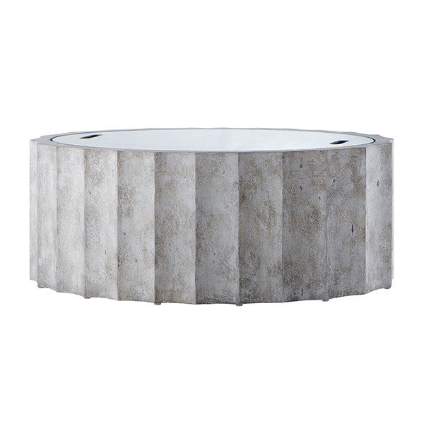 Aidan Gray Emmeline Burnt White Coffee Table F119 WHT