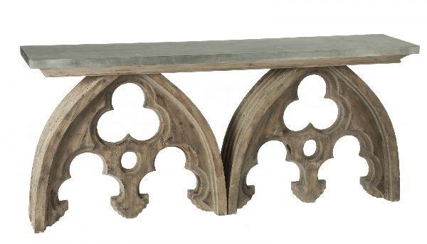Aidan Gray Arched Cathedral Table Natural F162