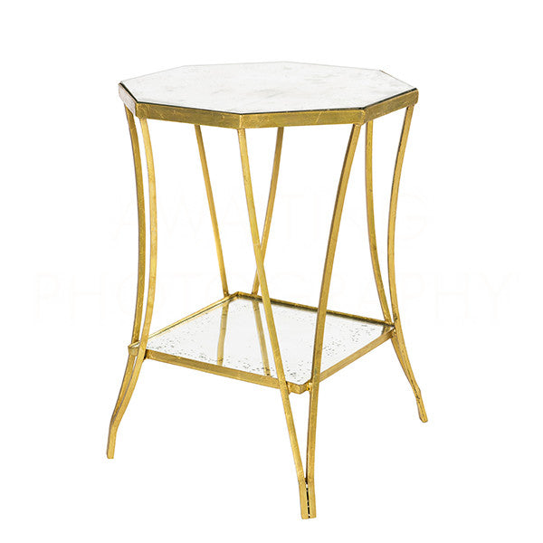 Aidan Gray Cuadrado Two-Tier Side Table F238 DOUBLE