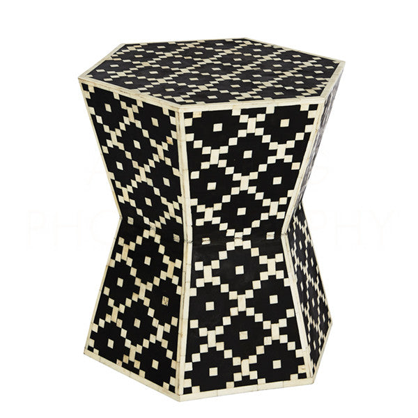 Aidan Gray Hourglass Hexagon Table Stool F373