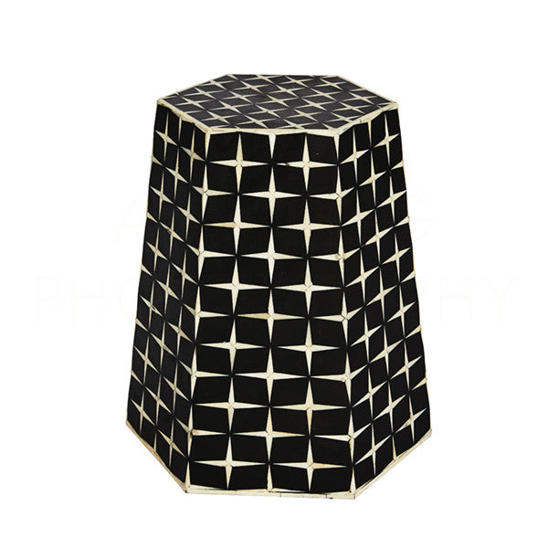 Aidan Gray Star Weave Tapered Hexagon Side Table or Stool F374