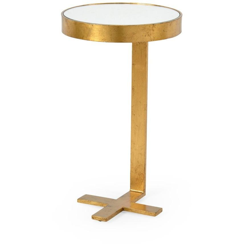 Chelsea House Mitchell Side Table-Gold 382004 - LOVECUP