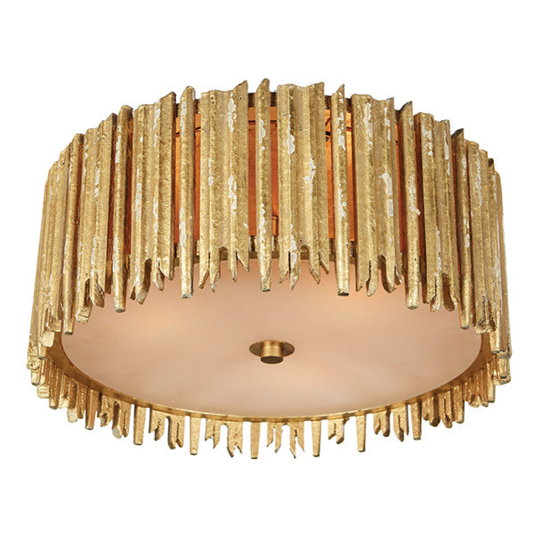 Aidan Gray Crown and Glory Small Gold Ceiling Flush Mount FL100S GLD