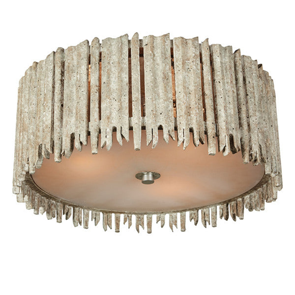 Aidan Gray Crown and Glory Small White Ceiling Flush Mount FL100S
