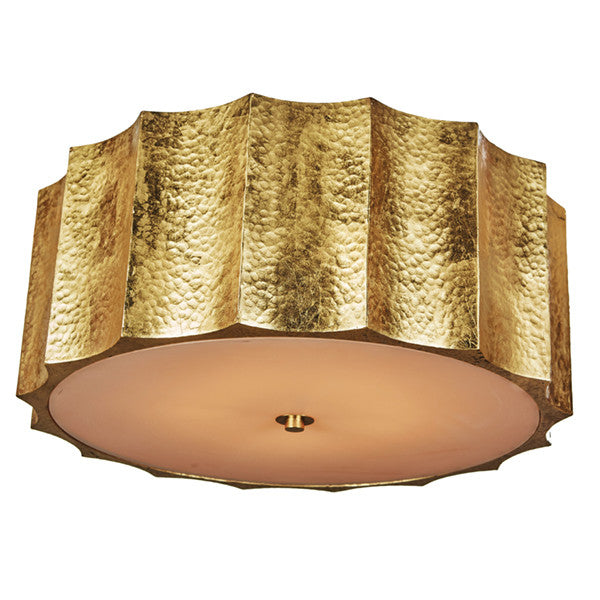 Aidan Gray Hammered Star Large Gold Ceiling Mount FL101L GLD