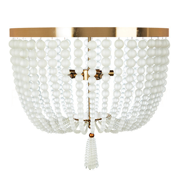 Aidan Gray Chestnut Large Ceiling Flush Mount FL104L