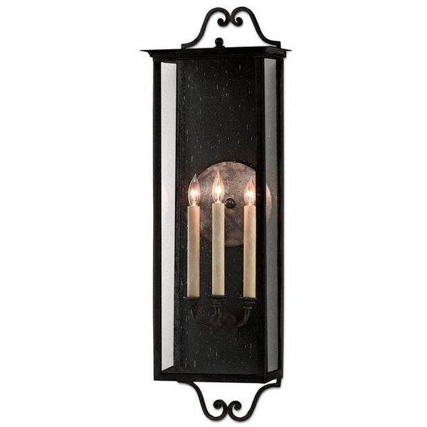 Currey and Company Giatti Outdoor Wall Sconce, Midnight Finish