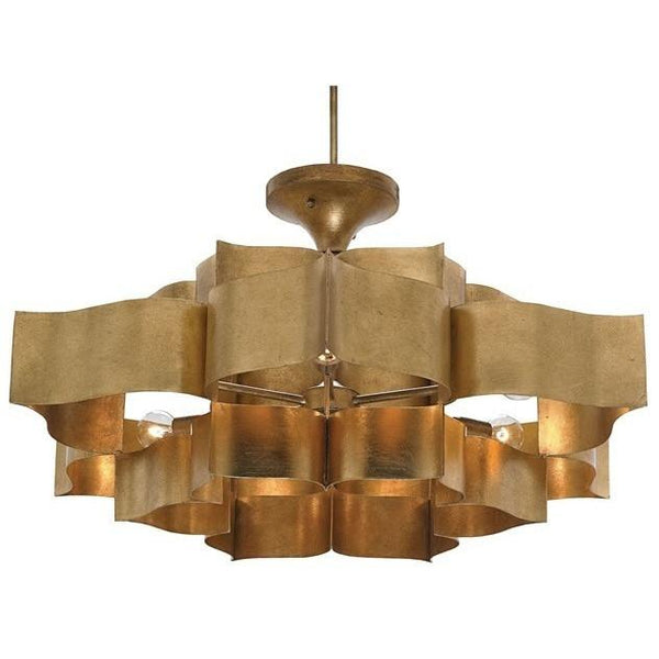 Currey and Company Grand Lotus Large Chandelier 9494