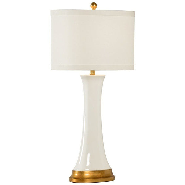 Chelsea House Hopper Table Lamp, White 69254