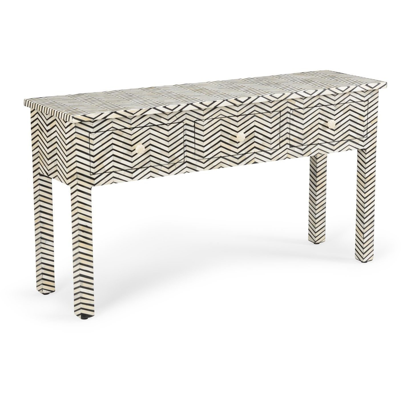 Lovecup Chevron Bone Console Table - LOVECUP