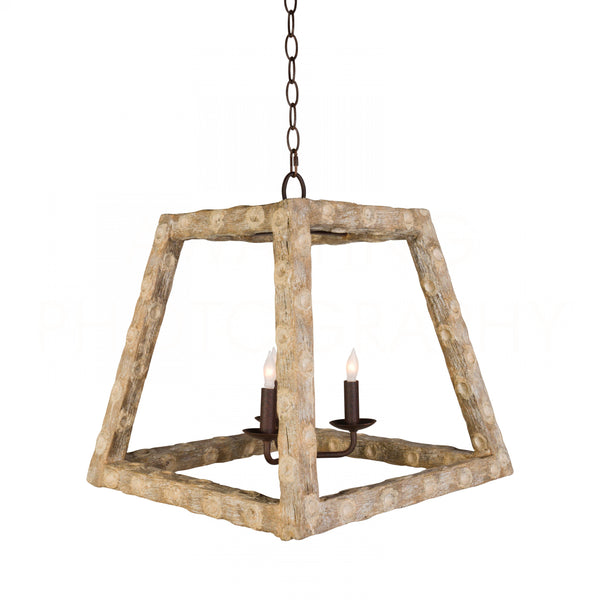 Aidan Gray Oyster Stick Tapered Square Chandelier L343 CHAN