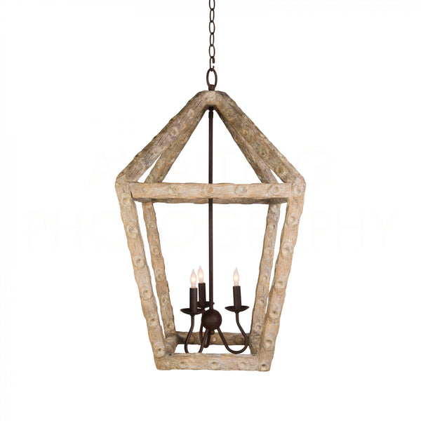 Aidan Gray Oyster Stick Small Lantern Chandelier	L344 CHAN
