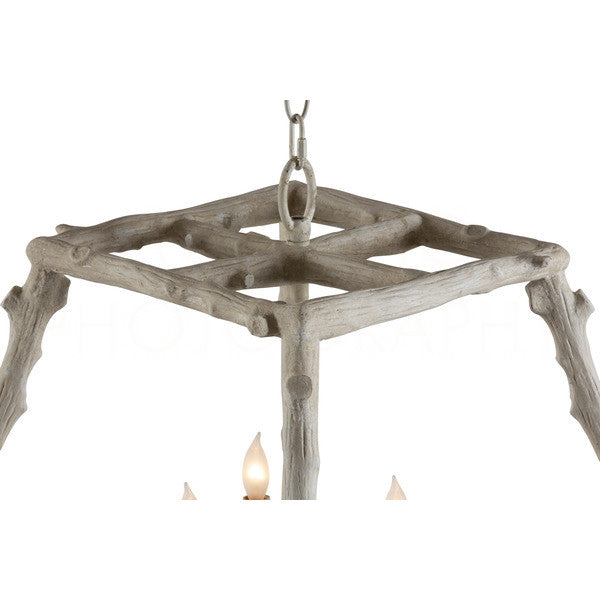 Aidan Gray Twig Taper Square Chandelier L361 CHAN