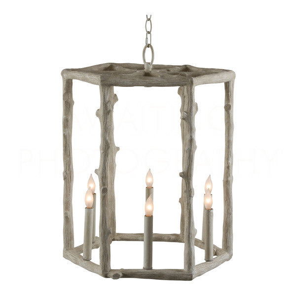 Aidan Gray Tall Twig Hexagon Chandelier L362
