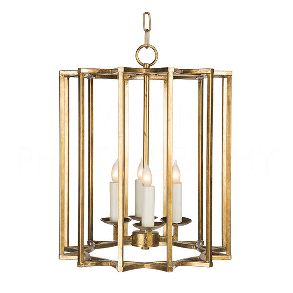 Aidan Gray Small Gold Geo No2 Chandelier L522 G