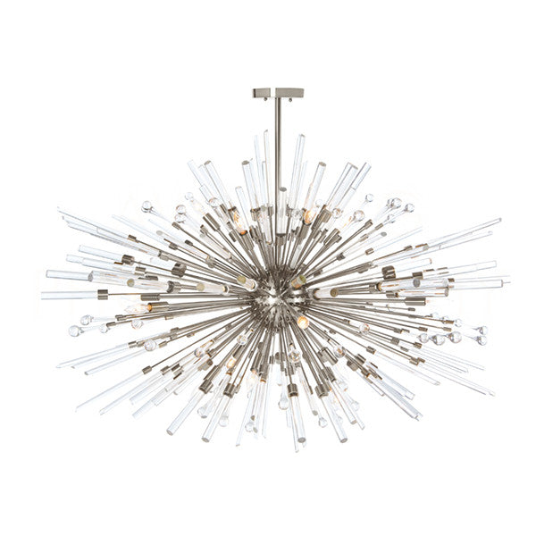 Aidan Gray Nickel Goliath Star Chandelier L541
