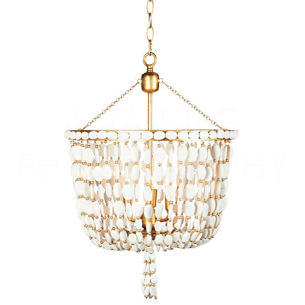Aidan Gray Sea Foam Chandelier L584 WOOD CHAN