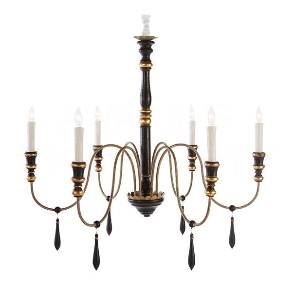 Aidan Gray Empire Medium Black Chandelier L646M CHAN BLK