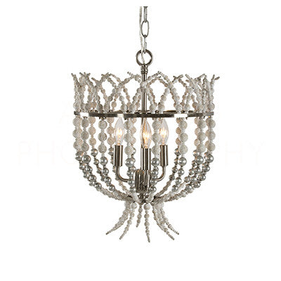 Aidan Gray Crown Top Silver Chandelier L836 CHAN SIL