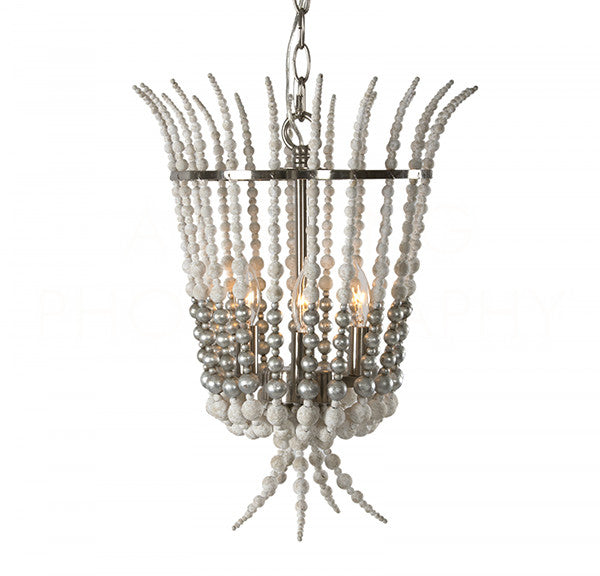 Aidan Gray Torch Silver Chandelier L837