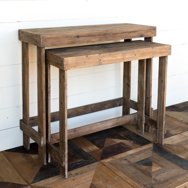 Lovecup Nesting Wooden Tables, Set of 2 L6370