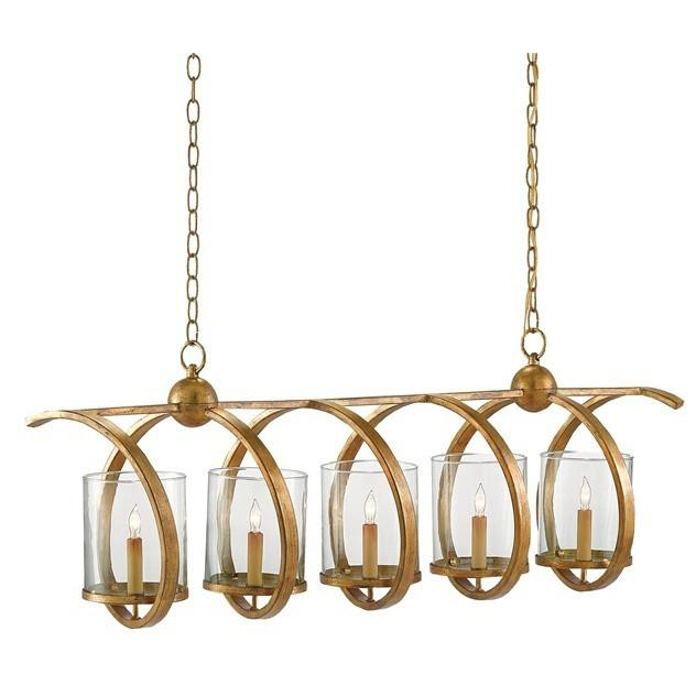 Currey and Company Maximus Rectangular Chandelier, Gold 9000-0054 - LOVECUP - 1