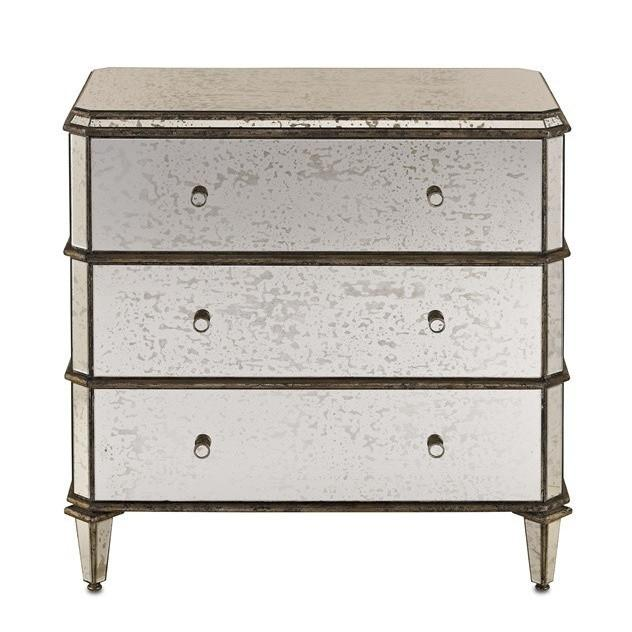 Currey and Company Antiqued Mirror Chest 4204 - LOVECUP