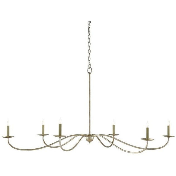 Currey and Company Saxon Chandelier, Silver 9000-0055 - LOVECUP