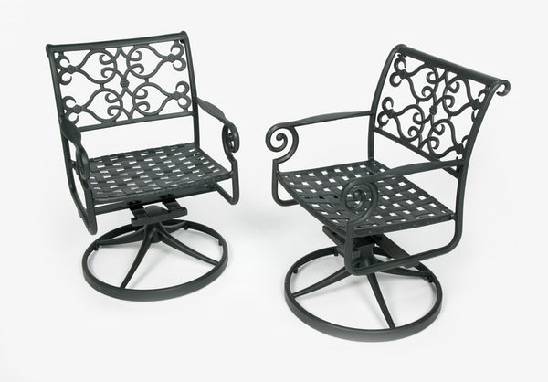 Lovecup Outdoor Metal Versailles Swivel Patio Chair L1000
