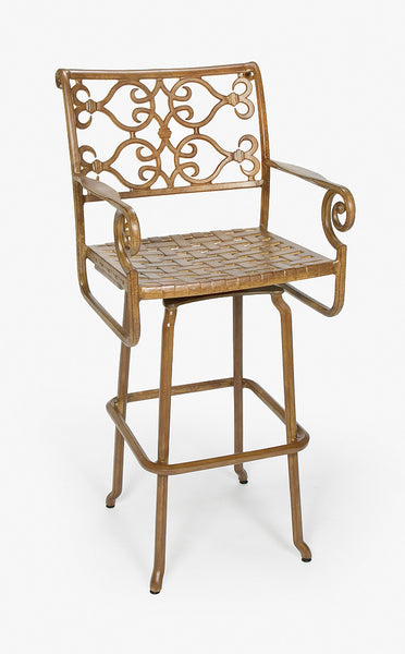 Lovecup Outdoor Metal Versailles Swivel Barstool L1004