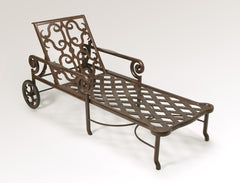 Lovecup Outdoor Metal Versailles Chaise Lounge L1025