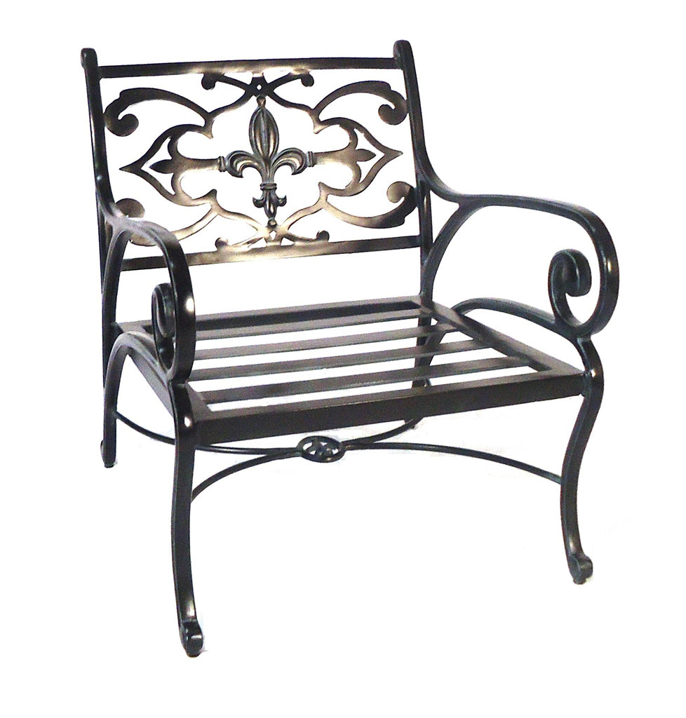 Lovecup Flower Lily Deep Seat Outdoor Metal Chair L7005