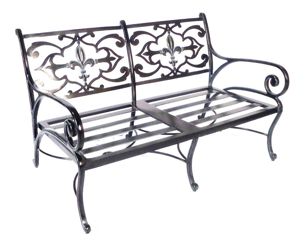 Lovecup Flower Lily Outdoor Metal Loveseat L7006