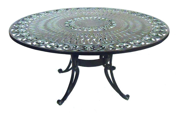 "Lovecup Water Lily Outdoor Metal Conversation Table 42"" L7009"