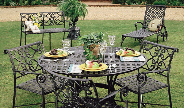 "Lovecup Versailles Outdoor Basketweave Dining Table 52"" L1005"
