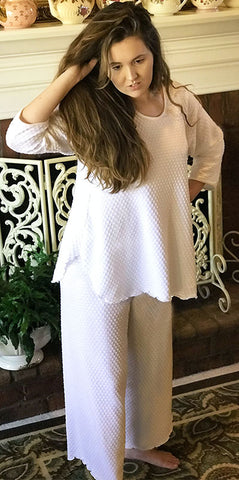 3/4 Sleeve Long Top & Palazzos Dot Collection - Simple Pleasures, Inc.
