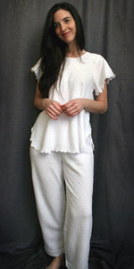 Short Sleeve Long Top & Long Pant Dot Collection