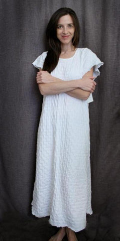 Short Sleeve Long Gown Waffle Collection