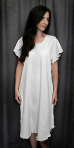 Short Sleeve 3/4 Length Gown Interlock Collection