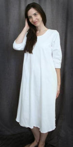 3/4 Sleeve Cotton Jersey Knit Nightgown