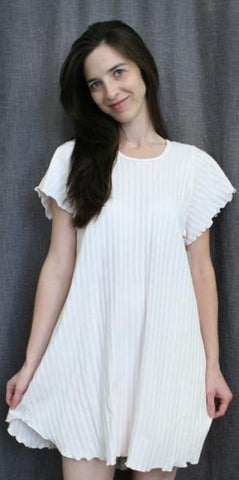 Short Sleeve Short Gown Shadow Stripe Collection