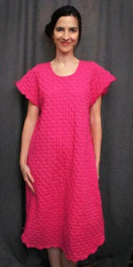 Vibrant Brights Short Sleeve 3/4 Length Gown Waffle Collection