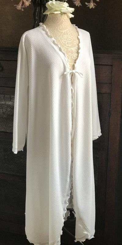 Long Sleeve 3/4 Length Swing Robe Basket Weave Collection