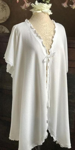 Short Sleeve Short Swing Robe Basket Weave Collection