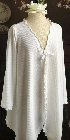 Long Sleeve Short Swing Robe Basket Weave Collection