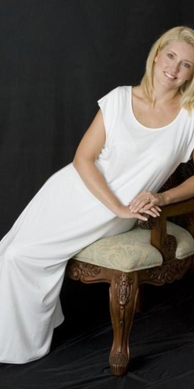 """Karyn"" Cap Sleeve Long Gown, Supima Cotton, Made In The USA by Simple Pleasures Inc."