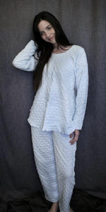 Long Sleeve Long Top & Long Pant Waffle Collection