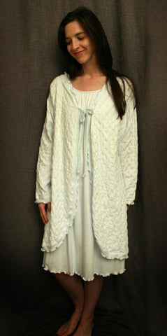 Long Sleeve Waffle Swing Robe 100% Cotton Knit Made In The USA by Simple Pleasures Inc.