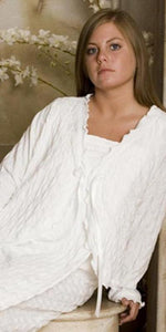 Cotton Bed Jacket Waffle Collection - Simple Pleasures, Inc.